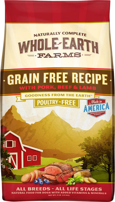 Whole Earth Farms Grain Free Recipe with Pork, Beef and Lamb Dry Dog Food