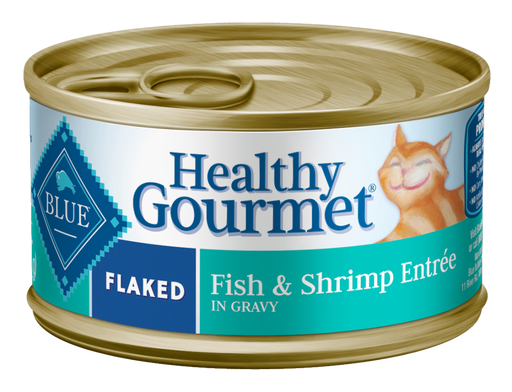 Blue Buffalo Healthy Gourmet Flaked Fish and Shrimp Entree Canned Cat Food