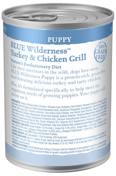 Blue Buffalo Wilderness Turkey & Chicken Grill Puppy Canned Dog Food