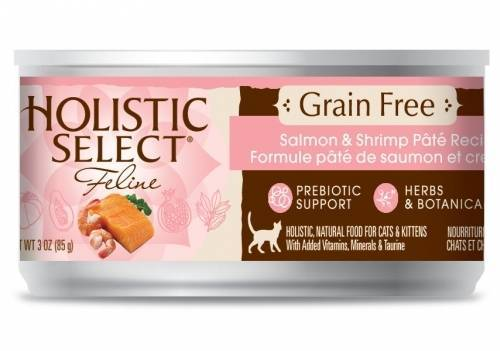 Holistic Select NaturalGrain Free Salmon and Shrimp Recipe Wet Canned Cat Food