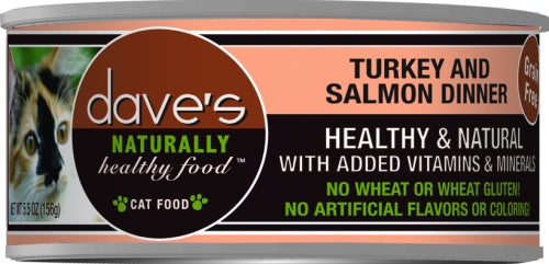 Dave's Naturally Healthy Turkey and Salmon Dinner Canned Cat Food