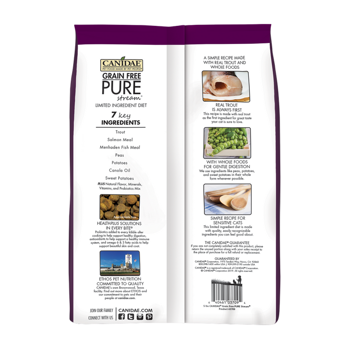 Canidae Grain Free PURE Stream with Trout Dry Cat Food