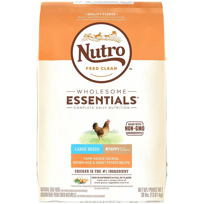 Nutro Wholesome Essentials Large Breed Puppy Farm-Raised Chicken, Brown Rice & Sweet Potato Dry Dog Food