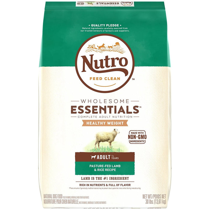 Nutro Wholesome Essentials Healthy Weight Adult Pasture-Fed Lamb & Rice Recipe Dry Dog Food