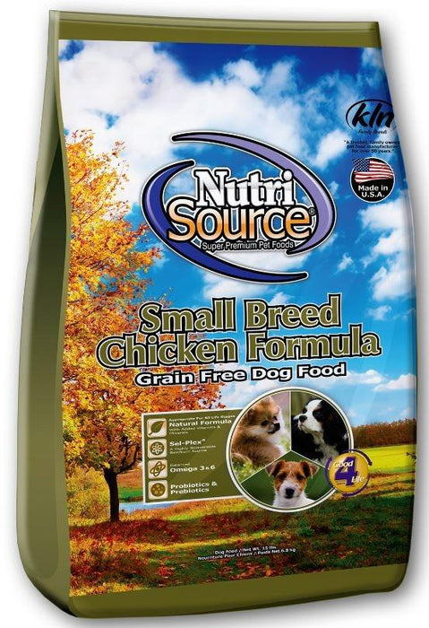 NutriSource Small Breed Chicken Formula Grain Free Dry Dog Food