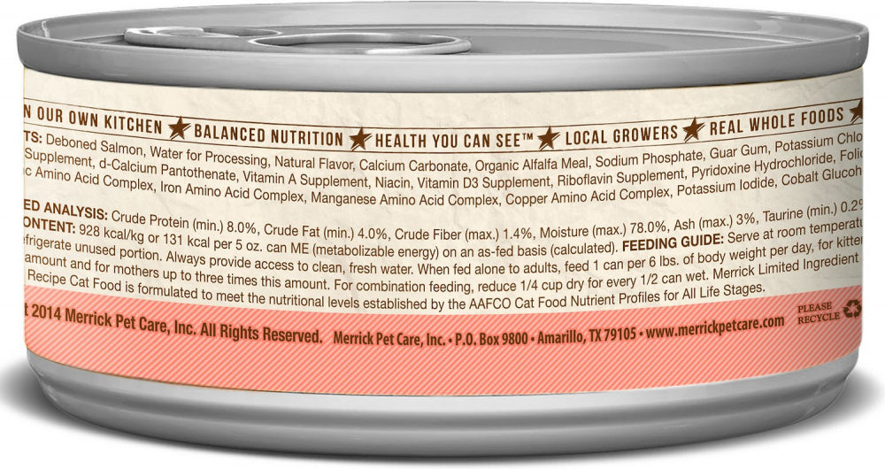 Merrick Limited Ingredient Diet Grain Free Real Salmon Pate Canned Cat Food