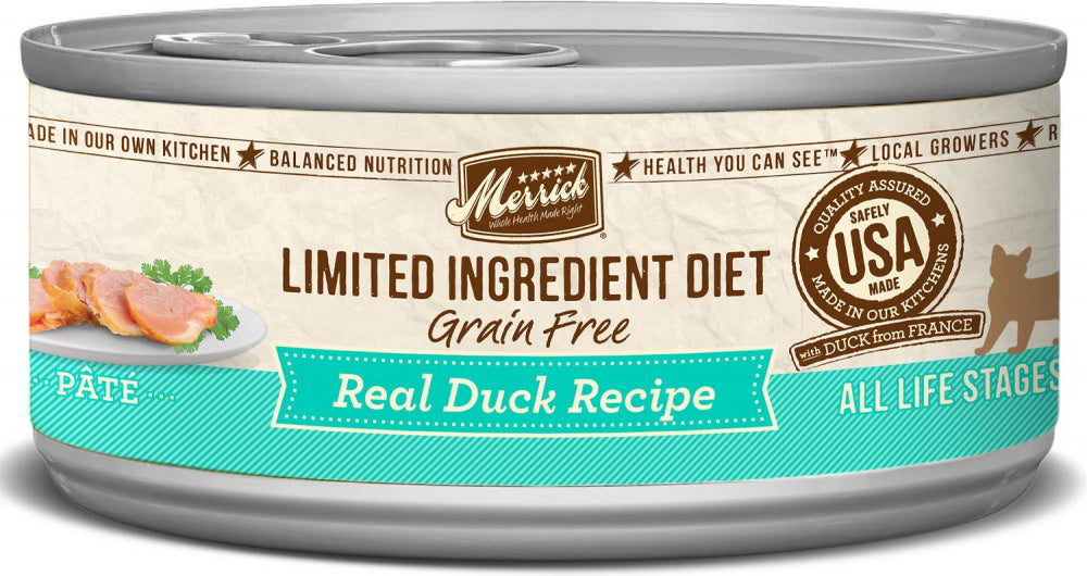 Merrick Limited Ingredient Diet Grain Free Real Duck Pate Canned Cat Food