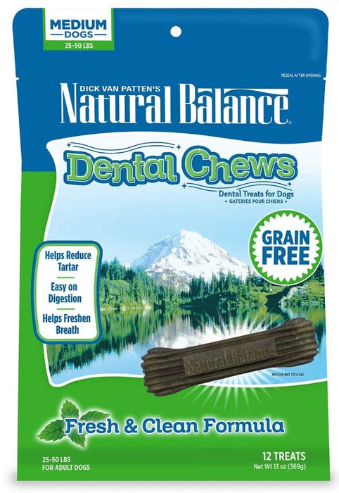 Natural Balance Grain Free Fresh and Clean Formula Dental Dog Chews