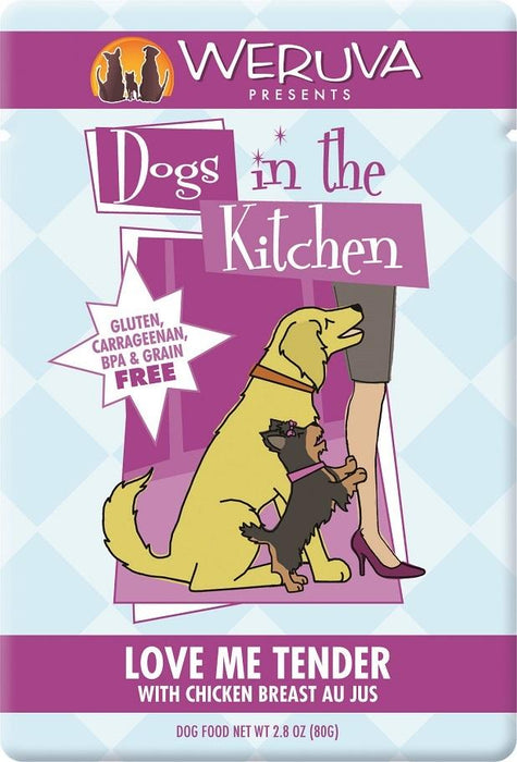 Weruva Dogs in the Kitchen Love Me Tender Grain Free Chicken Dog Food Pouch