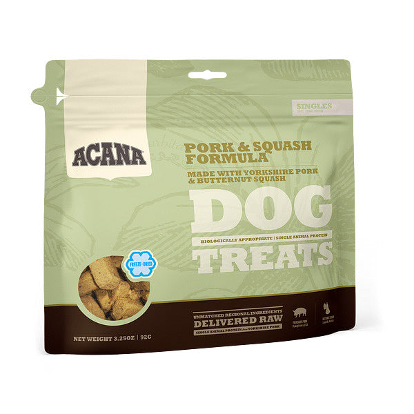 ACANA Singles Grain Free Limited Ingredient Diet Pork & Squash Formula Dog Treats