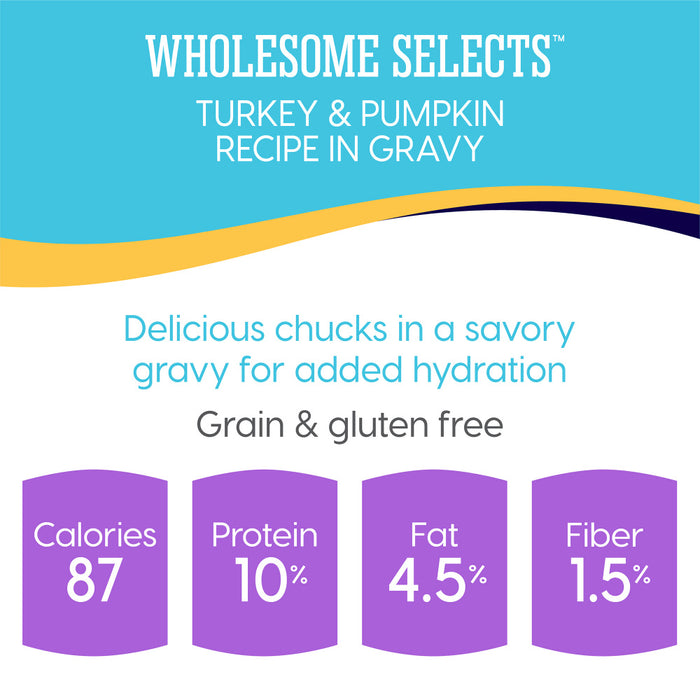 Solid Gold Wholesome Selects Grain Free Turkey & Pumpkin in Gravy Recipe Canned Cat Food