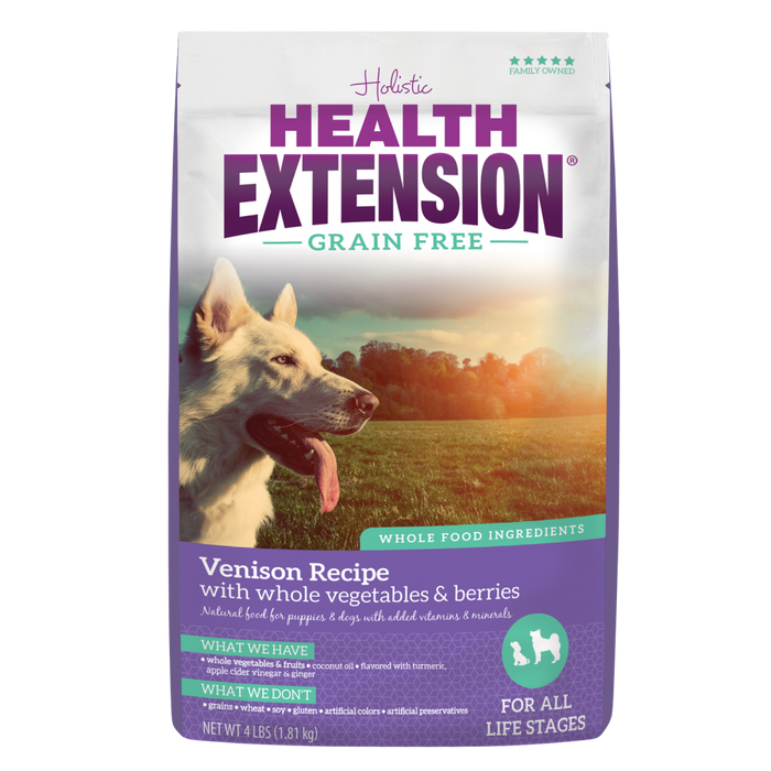 Health Extension Grain Free Venison Recipe Dry Dog Food
