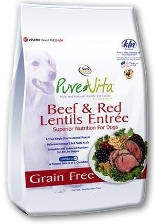 PureVita Grain Free Beef and Red Lentils Dry Dog Food