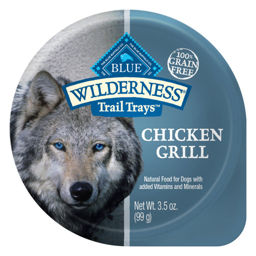 Blue Buffalo Wilderness Trail Trays Chicken Grill Dog Food Cup