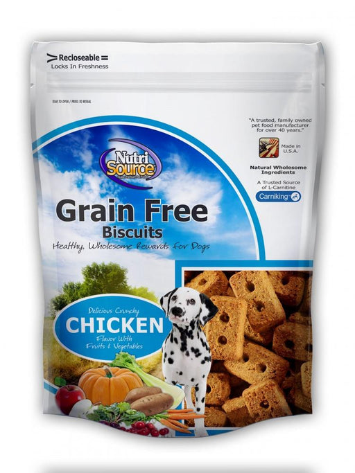 NutriSource Grain Free Chicken Biscuits Dog Treats