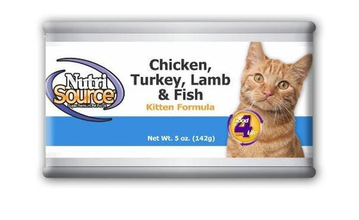NutriSource Kitten Chicken, Turkey, Lamb and Fish Canned Cat Food