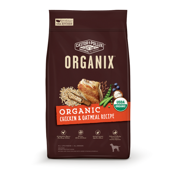 Castor and Pollux Organix Organic Chicken and Oatmeal Dry Dog Food