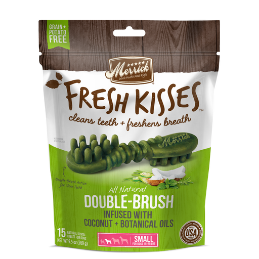 Merrick Fresh Kisses Grain Free Coconut Oil & Botanicals Small Dental Dog Treats