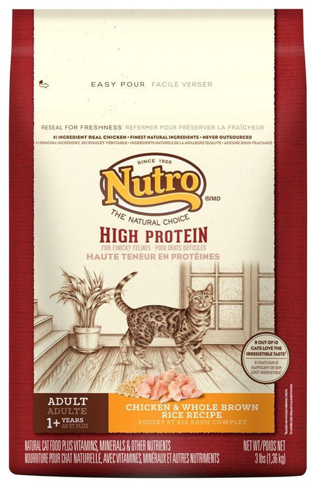 Nutro High Protein Adult Cat Chicken and Whole Brown Rice Cat Food