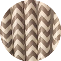 Chic Chevron paper straws - grey