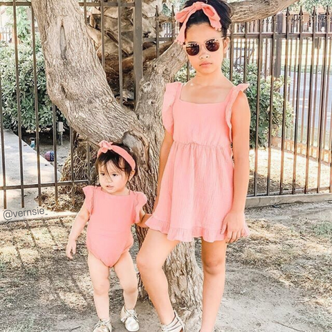 Matching sister and baby dress