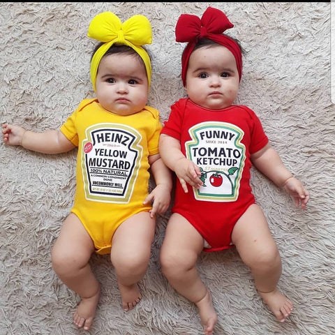 fashion twins baby rompers