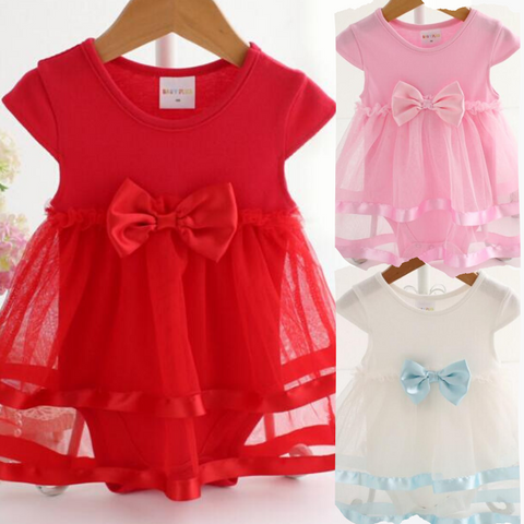 Bow Lace Skirts Romper