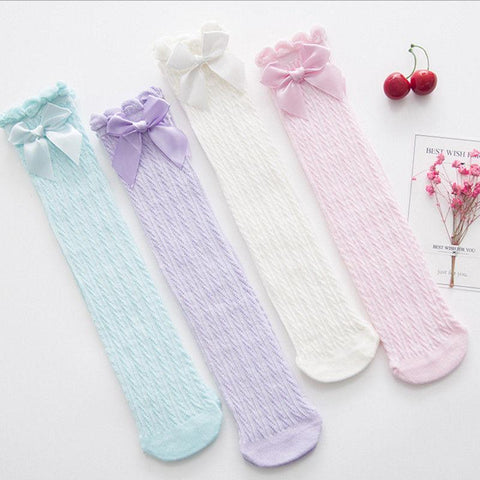 Baby Lace Bow Stockings