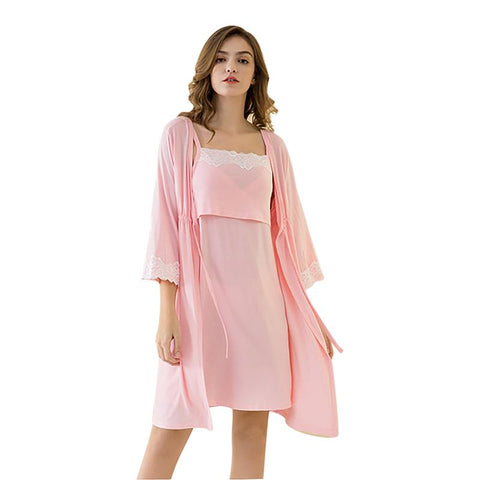 Maternity Nightgown And Robe