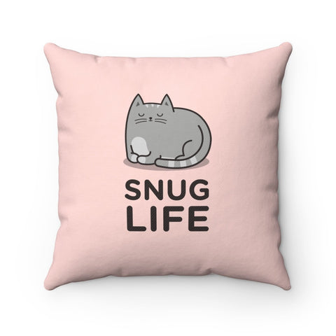 Snug Life Cat Toss Pillow - Cozy Nursery