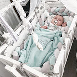 Braided Crib Bumper - Cozy Nursery