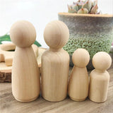 Waldorf Wooden Peg Dolls 6Pcs