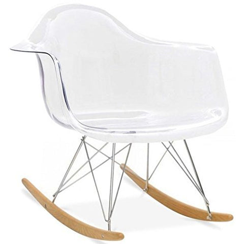 Transparent EAMES Style Rocking Chair