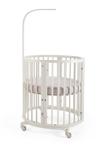 Stokke Sleepi Mini Crib Bundle with Mattress & Drape Rod- White - Cozy Nursery