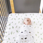Bebe au Lait Oh-So-Soft Muslin Crib Sheet, Saguaro