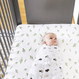 Bebe au Lait Oh-So-Soft Muslin Crib Sheet, Saguaro - Cozy Nursery