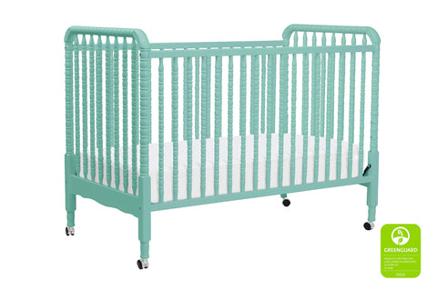 Vinci Jenny Lind 3-in-1 Convertible Portable Crib in Lagoon - Cozy Nursery