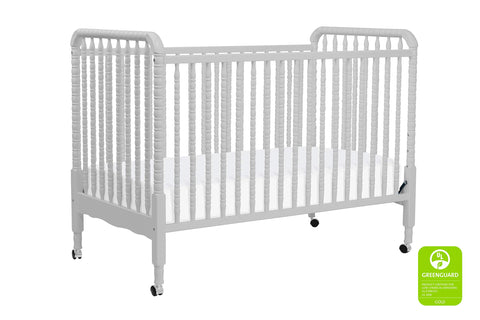 Vinci Jenny Lind 3-in-1 Convertible Portable Crib in Fog Grey
