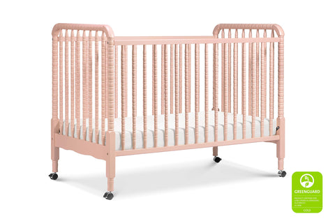 Jenny Lind 3-in-1 Convertible Portable Crib in Blush Pink