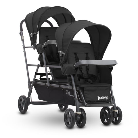 Joovy Big Caboose Graphite Stand On Triple Stroller, Black - Cozy Nursery