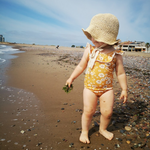 Baby Backless Floral Swimsuit - Cozy Nursery