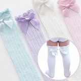 Baby Lace Bow Stockings - Cozy Nursery