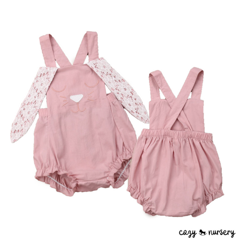 Crossed Back Rabbit Romper