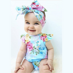 Cross Back Flower Romper - Cozy Nursery