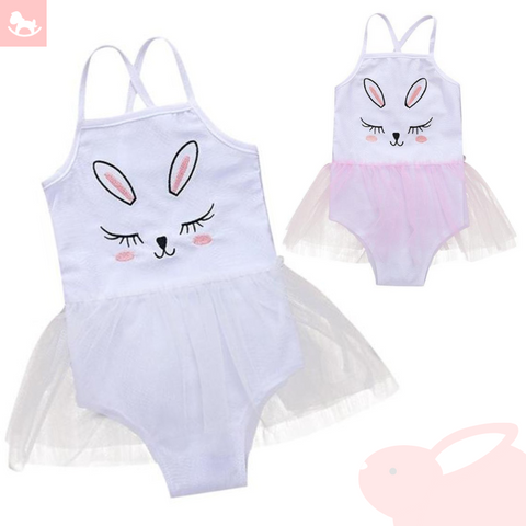 Blushing Bunny Tutu Skirt Swimsuit