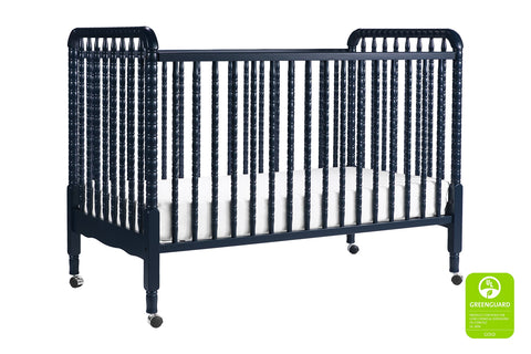 Jenny Lind 3-in-1 Convertible Portable Crib in Navy - Cozy Nursery