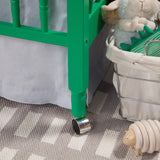 Jenny Lind 3-in-1 Convertible Portable Crib in Emerald