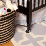 Jenny Lind 3-in-1 Convertible Portable Crib in Ebony - Cozy Nursery