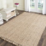 Natural Hand Woven Natural Jute Area Rug (5' x 8') - Cozy Nursery