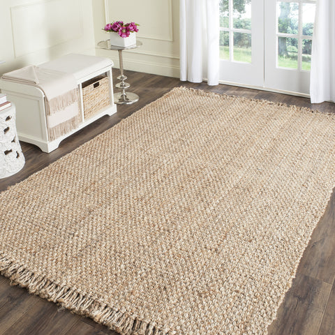 Natural Hand Woven Natural Jute Area Rug (5' x 8')